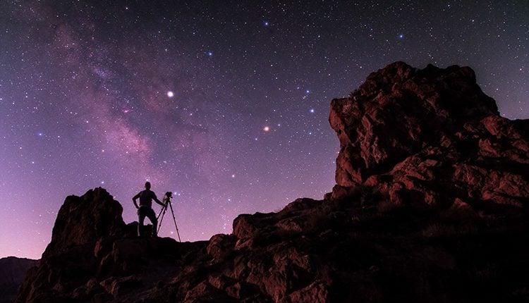عکاسی نجومی: رنگ در عکاسی منظره با ستارگان