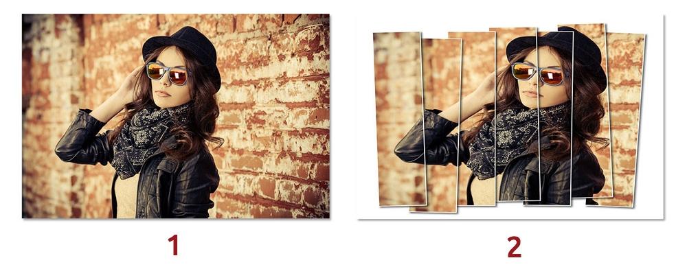افکت ساخت پنل های عمودی برای تصویر در فتوشاپ