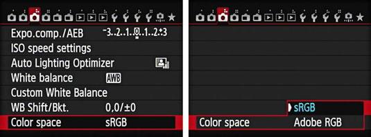 مفهوم تنظیم فضای رنگ در دوربین های کانن